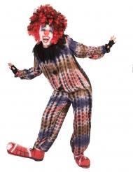 Läskig clowndräkt overall barn