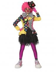 Färgglad clownjacka dam
