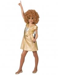 Guldfärgad discoklänning barn