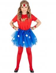 Superhjältedräkt med kjol barn