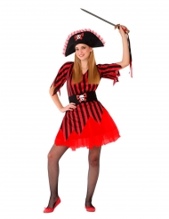 Piraten Petroska röd tonåringsdräkt