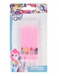 4 My Little Pony™ rosa tårtljus 9 cm