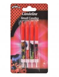 4 Ladybug™ röda födelsedagsljus 9 cm