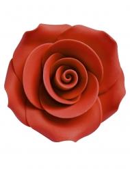 6 Dekorativa socker-rosor 5 cm