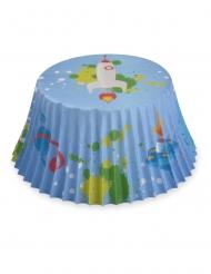 50 Muffinsformar med blå rymdmotiv 7 cm