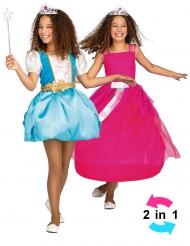 Magisk prinsessdräkt 2-in-1 barn