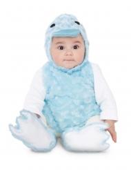Plyschig blå anka bebisdräkt