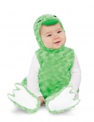 Plyschig grön anka bebisdräkt