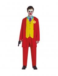 Galen röd clowndräkt tonåring