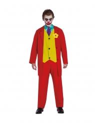 Galen röd clown herrdräkt