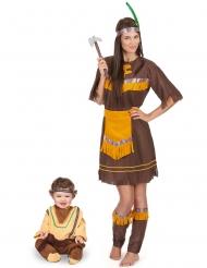 Indianer pardräkt mor & bebis