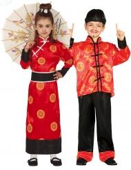 Röda kineser barndräkt