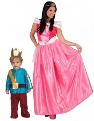 Prinsessa och prins pardräkt mor & son