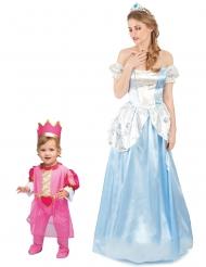 Prinsessor pardräkt mor & dotter