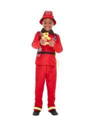 Röd brandmansdräkt barn