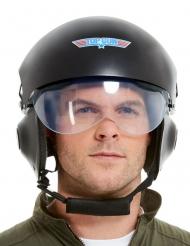 Top Gun™ lyxig svart pilothjälm vuxen