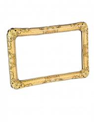 Uppblåsbar guldfärgad fotoram 80x60 cm