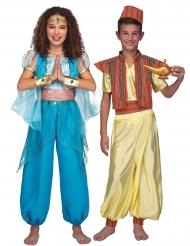 Orientalisk prins och prinsessa pardräkt barn