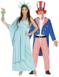 Frihetsgudinnan och Uncle Sam pardräkt
