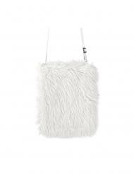 Lurvig vit väska