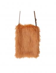 Lurvig brun väska