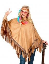 Lyxig hippie-poncho vuxen