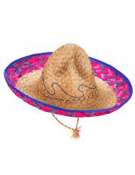 Rosablå mexikansk sombrero vuxen