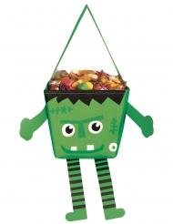 Liten grön monsterväska med armar och ben