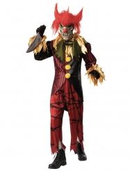 Lyxig galen clowndräkt med mask herr