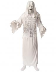 Vit spökdräkt med mask herr