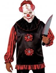Galen blodig clownmask vuxen