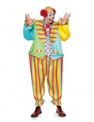 Magisk cirkusclown herrdräkt