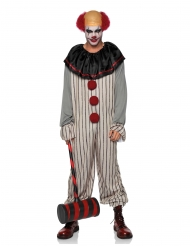 Läskig clown herrdräkt
