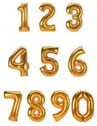 Guldigt nummer aluminiumballong 134 cm
