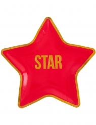 10 Hollywood stjärntallrikar 22x22 cm
