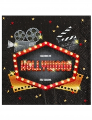 20 Hollywood pappersservetter 33x33 cm