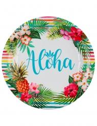 10 Papptallrikar Aloha 22,5 cm