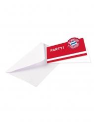 8 FC Bayern München™ inbjudningskort med kuvert 13x8 cm