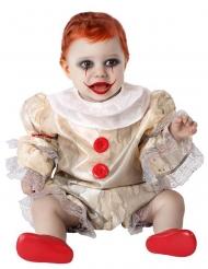 Läskig clown bebisdräkt