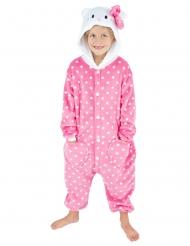 Rosa kattpyjamas barn