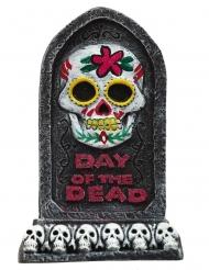 Dia de los Muertos gravstensdekoration 13x8 cm