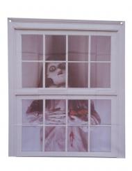 Fönsterdekoration med docka 75x90 cm