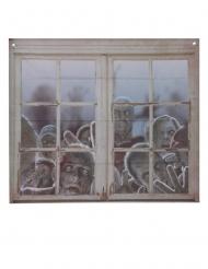 Fönsterdekoration med zombies 80x90 cm