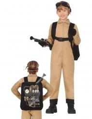 Spökjägardräkt med ryggsäck barn