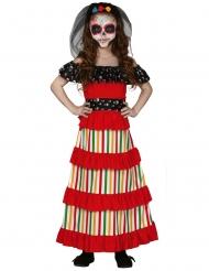 Dia de los Muertos mexikansk flickdräkt