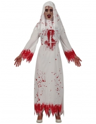 Blodig vit nunna damdräkt