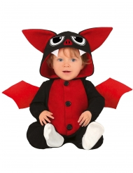 Rödsvart fladdermus bebisdräkt