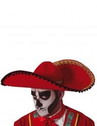 Röd sombrero Dia de los Muertos