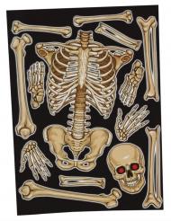 Klistermärken för fönstret skelett 30x40 cm