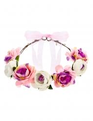 Blomsterkrans rosa 17 cm